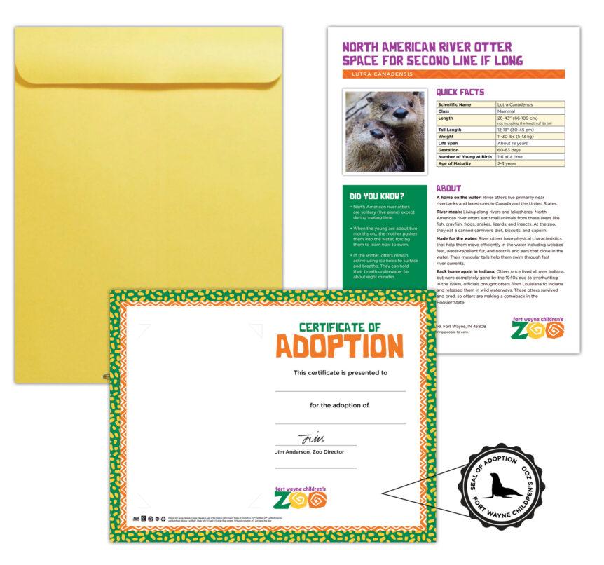 fort wayne children's zoo adopt an animal design