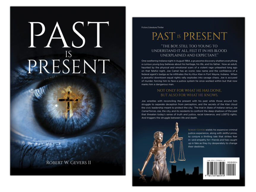 past is present book cover design