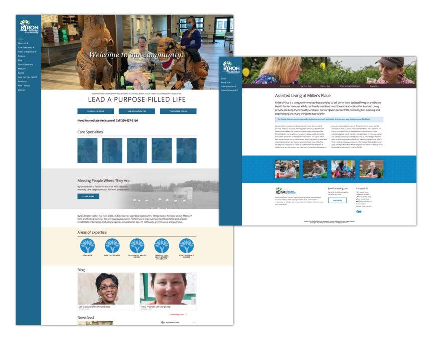 byron wellness community website design
