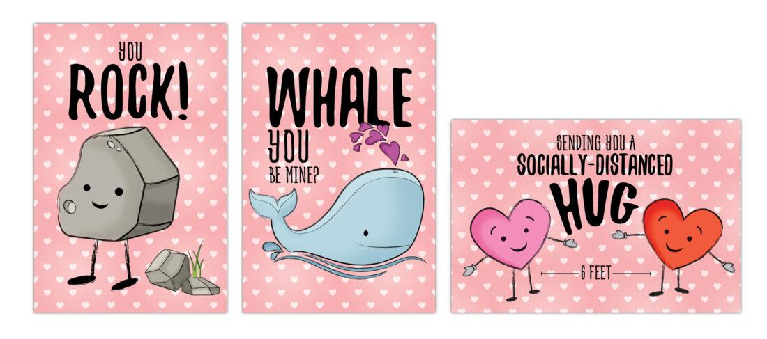 cancer services valentines cards illustrations