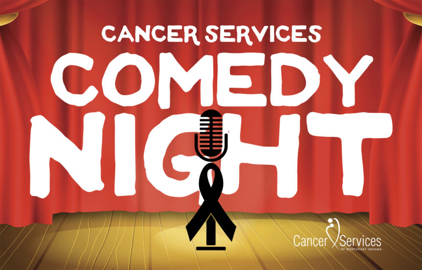 cancer services comedy night event package graphics