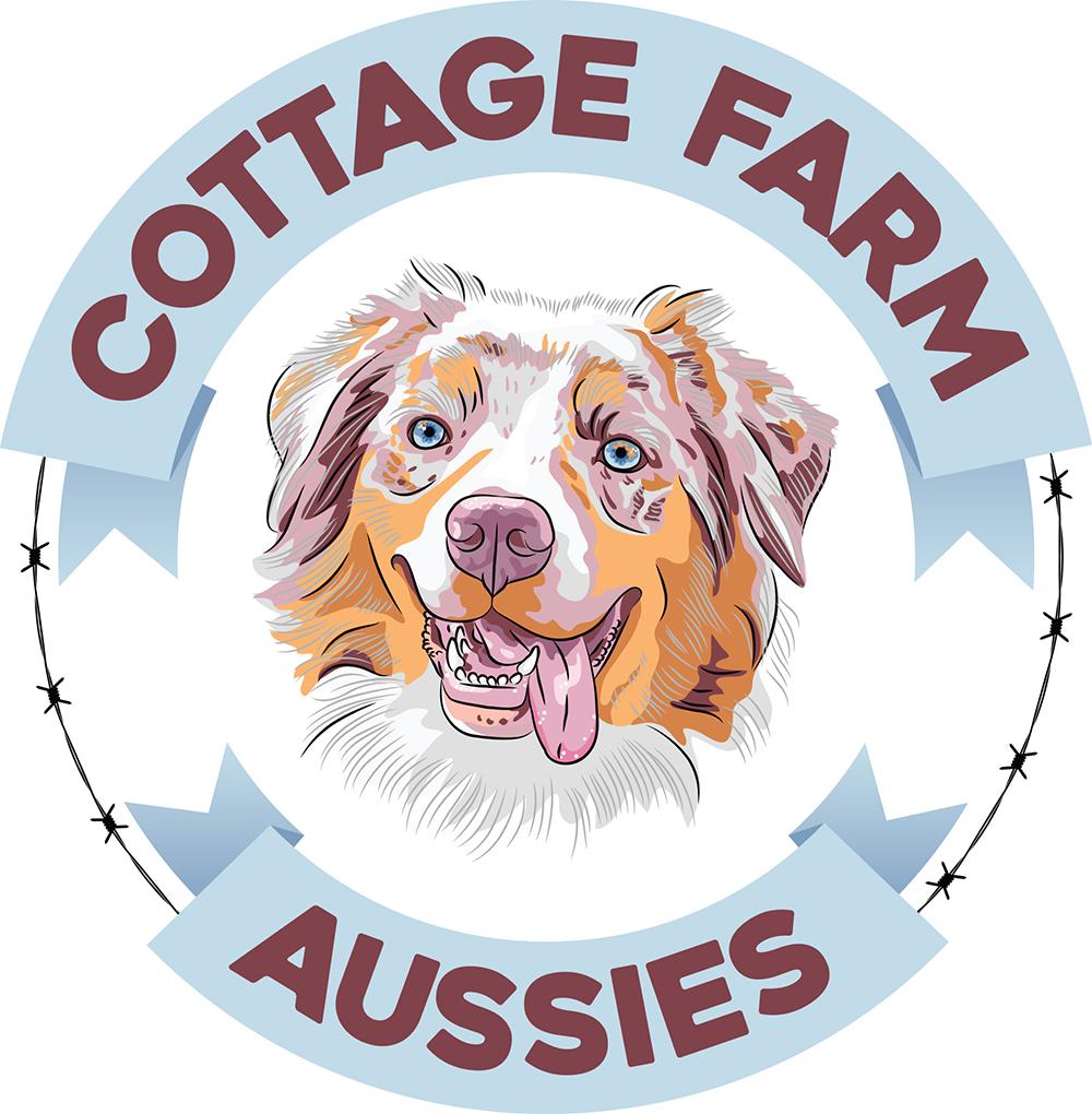 cottage farm aussies logo design