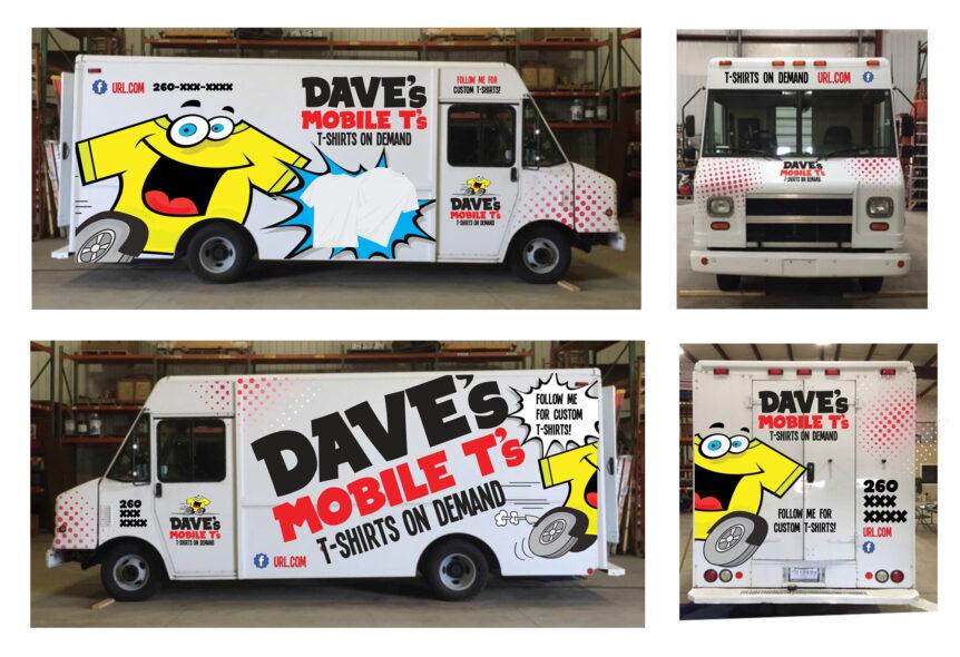 dave's mobile t's van wrap