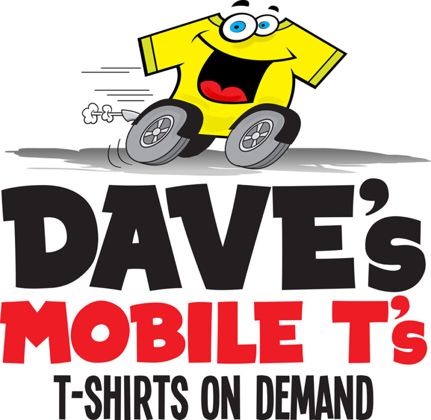 dave's mobile t's logo design