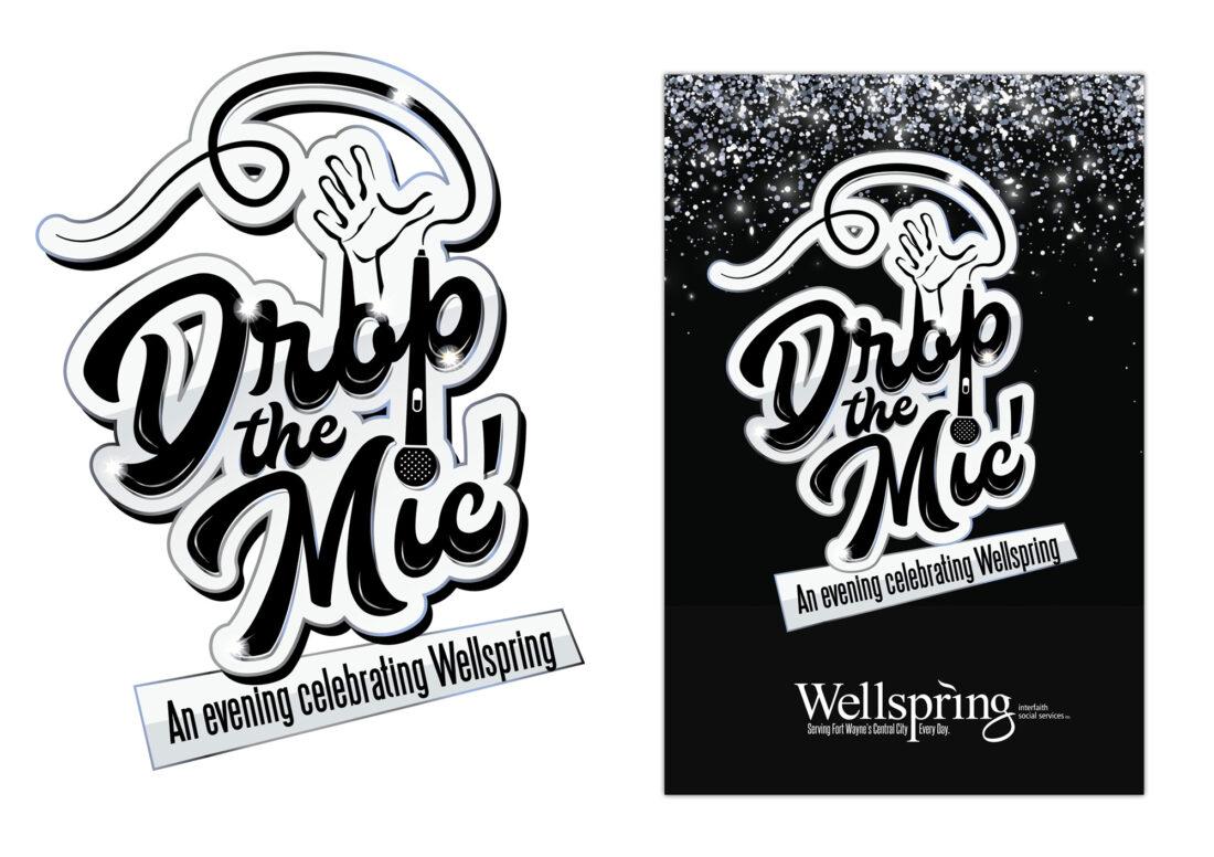 wellspring interfaith social services event logo design