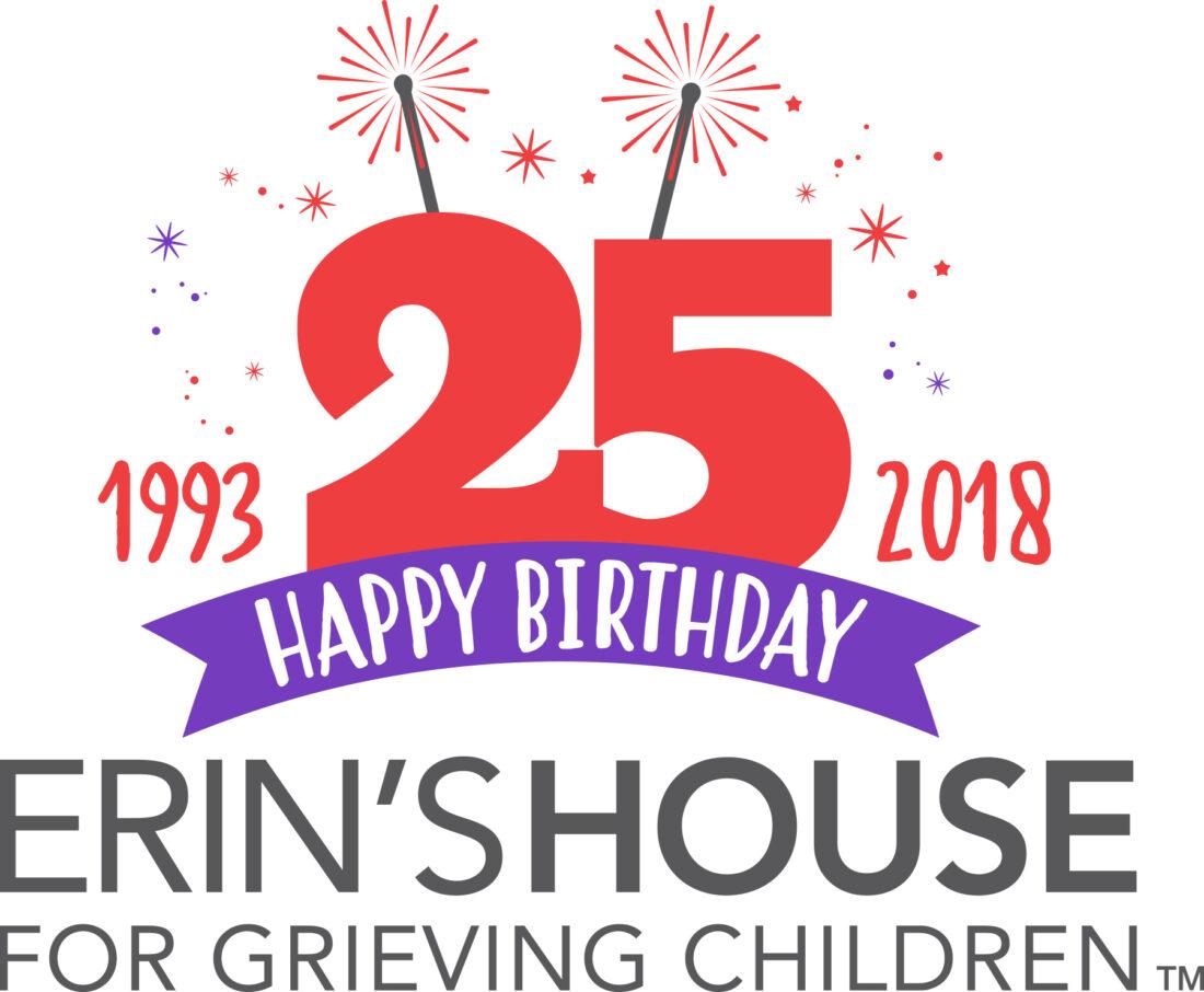 erin's house 25th anniversary logo design