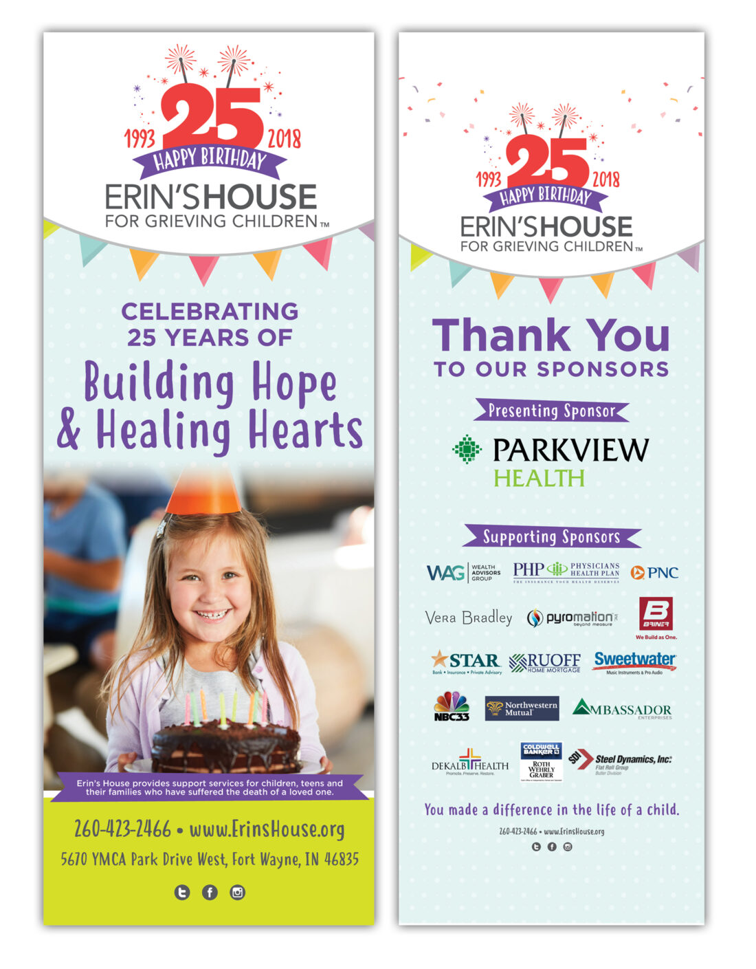 erin's house retractable banners