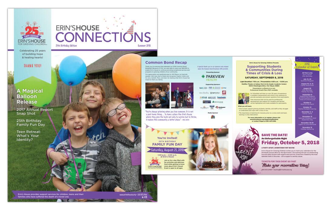 erin's house newsletter design
