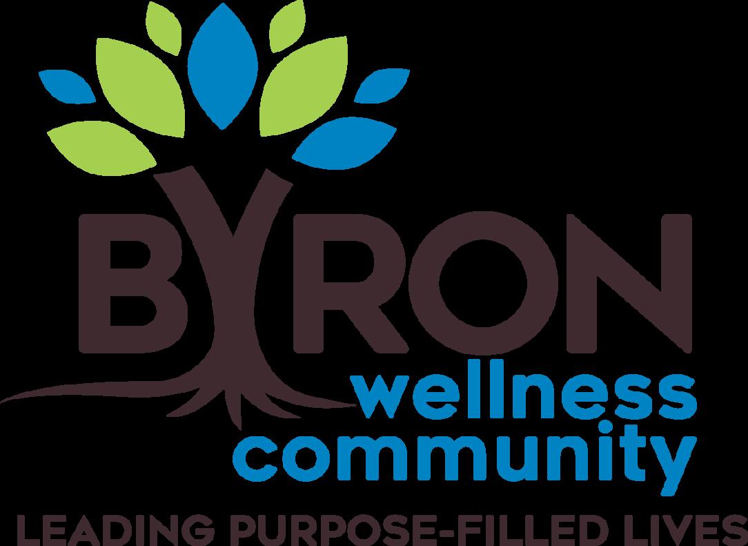 byron wellness community logo design