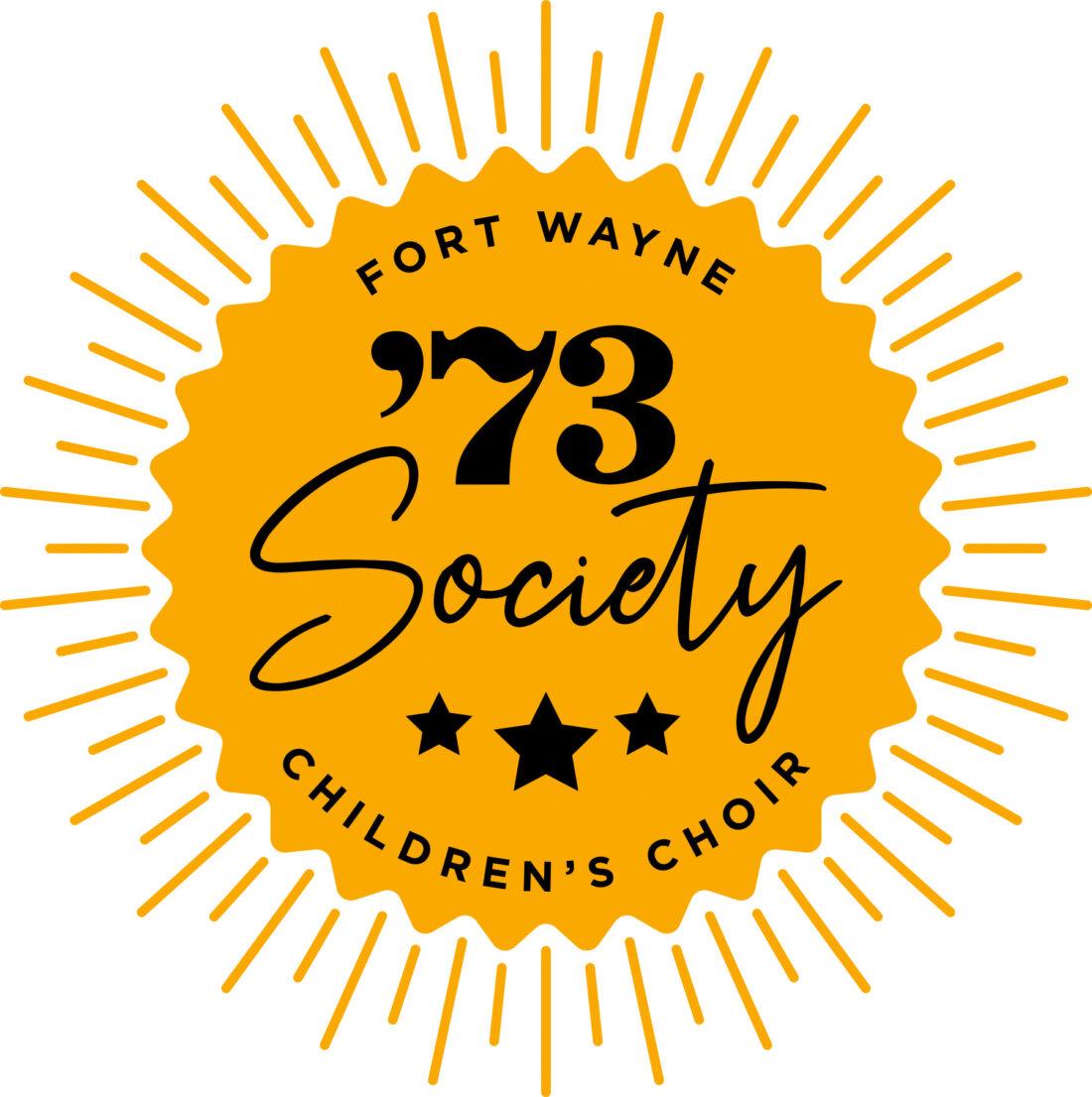 fort wayne children's choir '73 society logo design