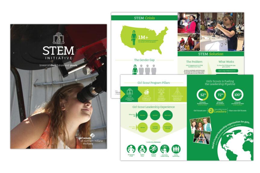 girl scouts stem initiative brochure design