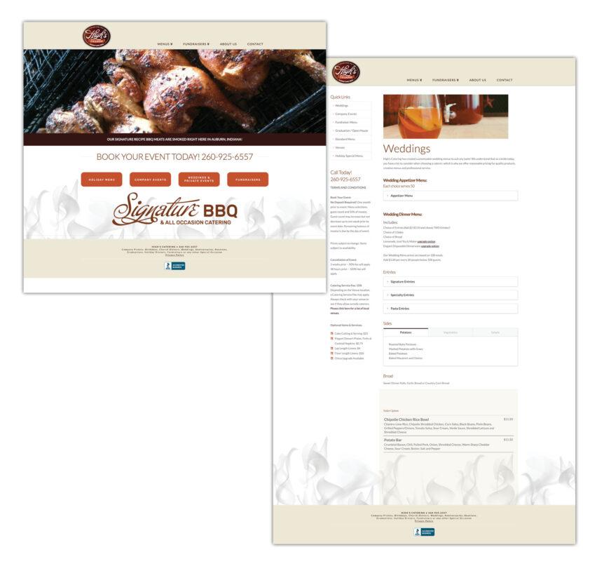 high's bbq website design