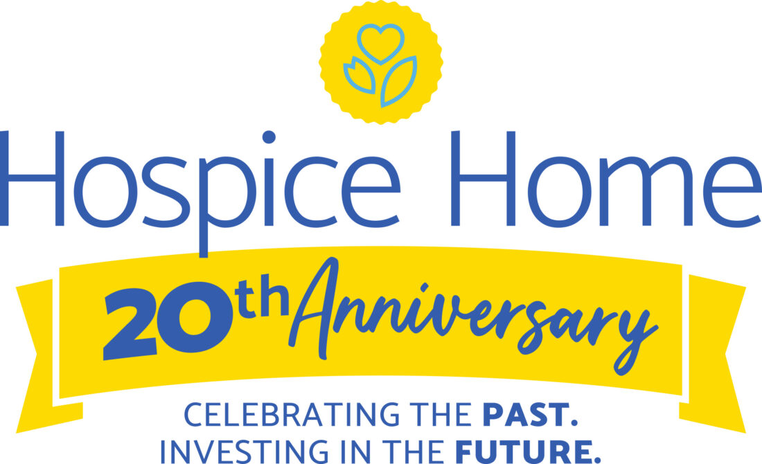 visiting nurse hospice home 20th anniversary logo design