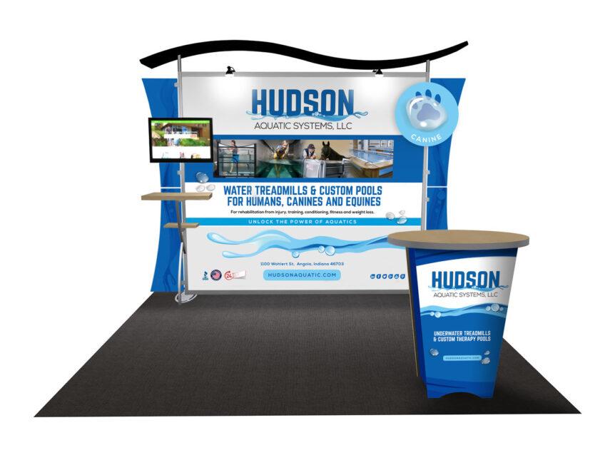 Hudson aquatics tradeshow booth graphics