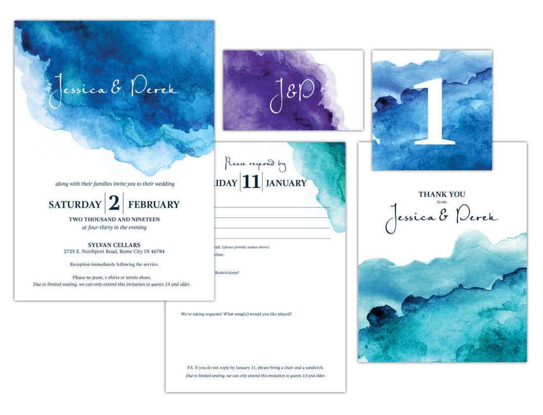 heaston/young wedding package design