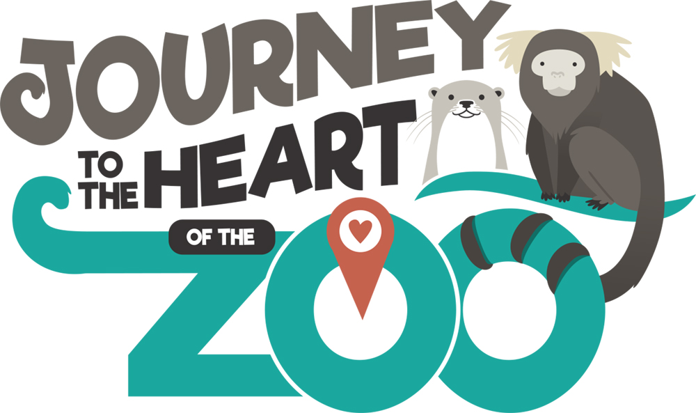 fort wayne children's zoo journey to the heart of the zoo logo design