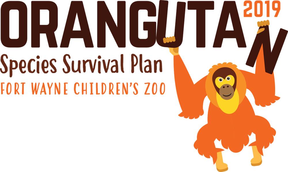 fort wayne children's zoo SSP orangutan logo design