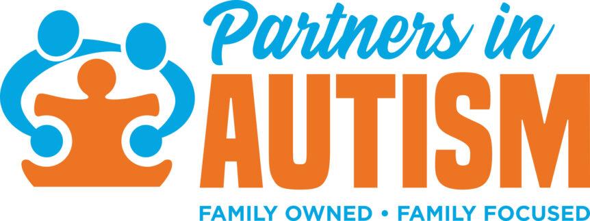 partners in autism logo design