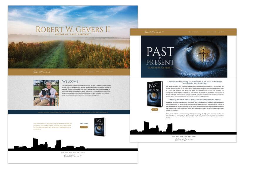 past is present website design
