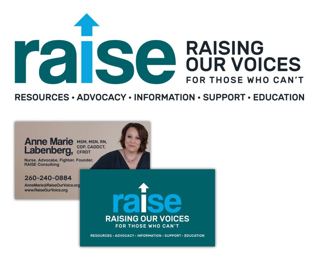 Raise logo and business card design