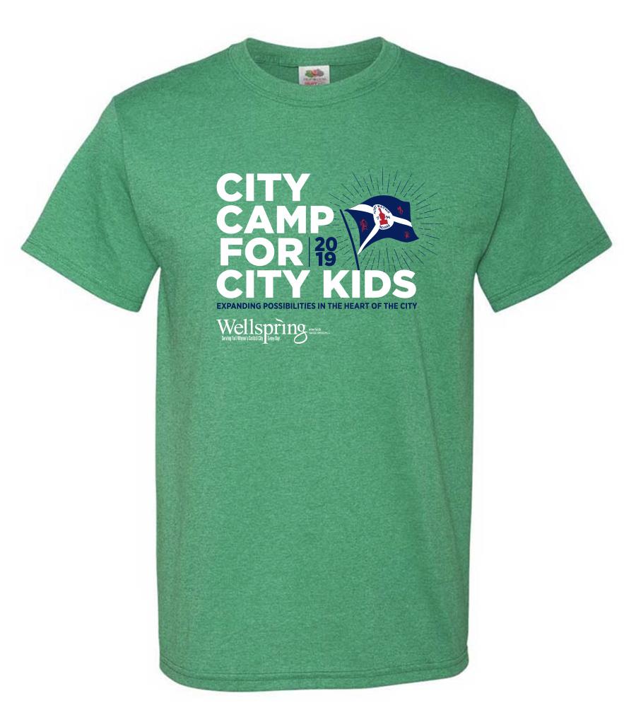wellspring interfaith social services summer camp shirt design