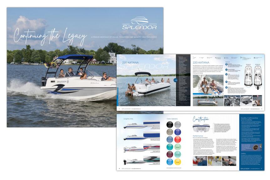 splendor boats brochure and retouching