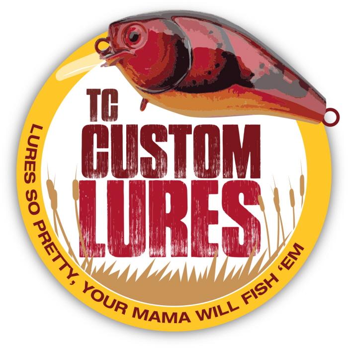 TC custom lures logo design