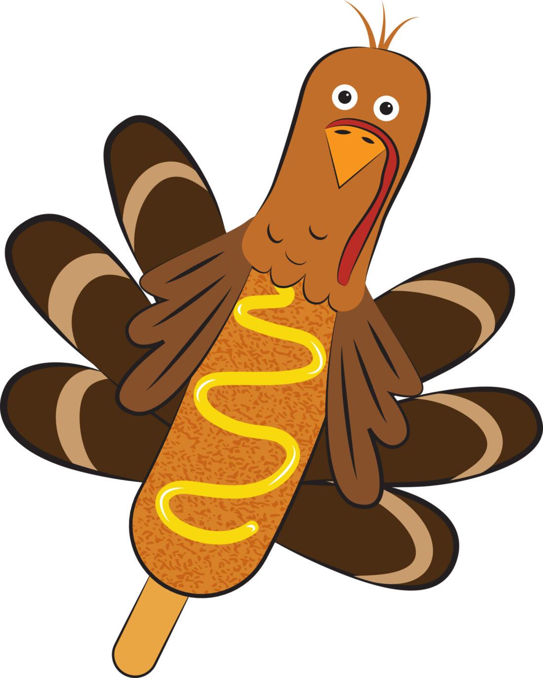 turkey corn dog custom illustration