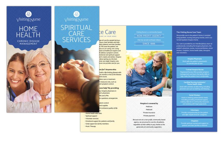 visiting nurse brochure design
