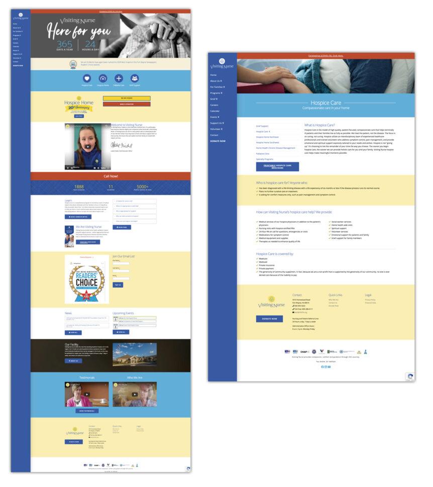 visiting nurse website design