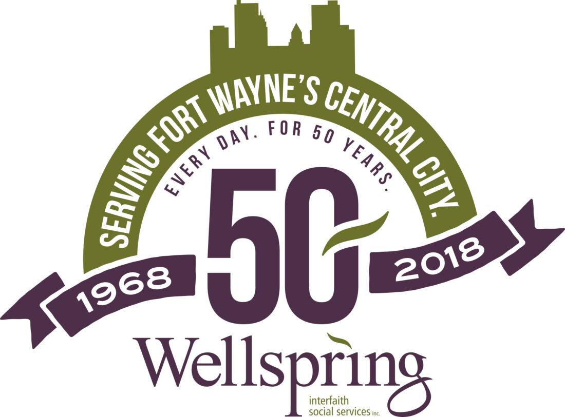 wellspring interfaith social services 50th anniversary logo design