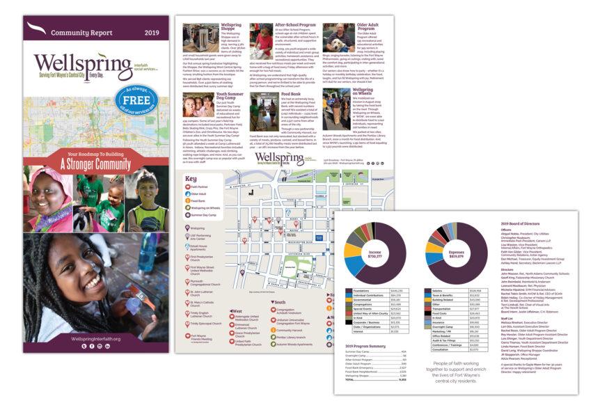 wellspring interfaith social services annual report design