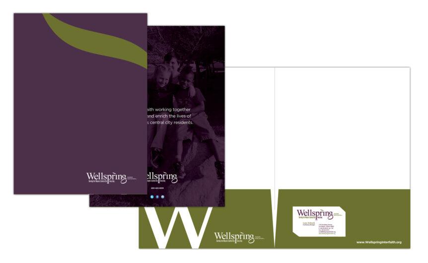 wellspring interfaith social services pocket folder design