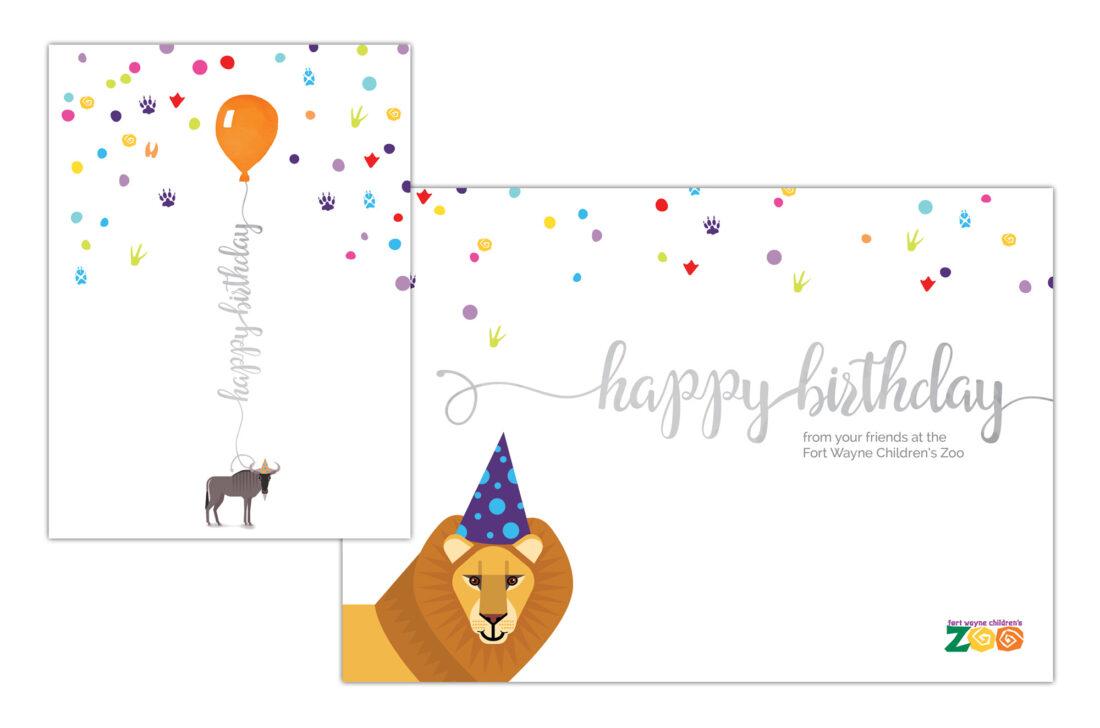 fort wayne children's zoo birthday card design